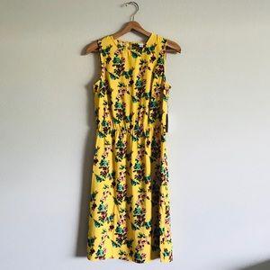 NWT Yellow Floral Sleeveless Dress